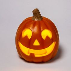 """Free shipping on orders of $35+ from Target. Read reviews and buy 9"""" Light Up Orange Happy Face Halloween Jack-O'-Lantern (1 Tooth) - Hyde & EEK! Boutique™ at Target. Get it today with Same Day Delivery, Order Pickup or Drive Up. Pumpkin Face Carving, Funny Pumpkin Carvings, Halloween Pumpkin Carving Stencils, Halloween Pumpkin Designs, Amazing Pumpkin Carving, Halloween Jack, Halloween Scene, Halloween Prop, Halloween Pumpkins"""
