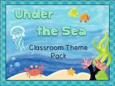 Big Classroom Theme Pack - Under The Sea/Ocean - Labels Ba