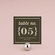 lot 12 numéros de table style bistro personnalisables