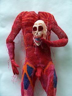 crochet skeleton Spooky Crochet Art by Johanna Schweizer