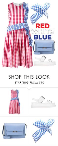 """""""gingham"""" by downeastgirl88 ❤ liked on Polyvore featuring MSGM, STELLA McCARTNEY, Marni, Lulu in the Sky, redwhiteandblue, gingham, fourthofjuly and polyvorecontest"""
