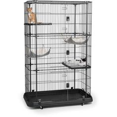 Buy Heavy Duty Premium Deluxe Cat Dog Pet Cage Kennel Crate Animal House Playpen New at online store Large Cat Cage, Cat Crate, Cat Enclosure, Outdoor Cats, Indoor Outdoor, Pet Cage, Cat Supplies, Catio, Dogs