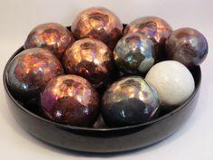 Raku rattle balls. ~Lucky Crane Pottery. Glaze Recipe, Crane, Easter Eggs, Pottery, Ceramics, Balls, Recipes, Food, Ceramica
