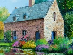 Jean Marc Janiaczyk French painter Dreaming of Provence Beautiful Paintings, Beautiful Landscapes, Pintura Exterior, Illustrations, Pretty Art, House Painting, Lovers Art, Painting Inspiration, Home Art