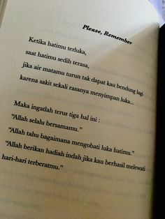 Self Quotes, Book Quotes, Words Quotes, Life Quotes, Reminder Quotes, Self Reminder, Beautiful Soul Quotes, Sabar Quotes, Cinta Quotes