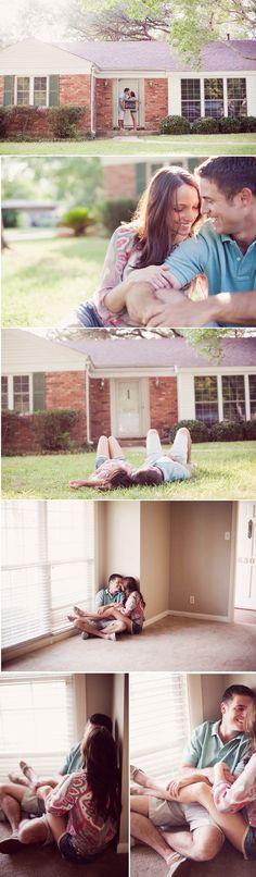 First home pics. What a cute idea!!  Why didn't we do this :(