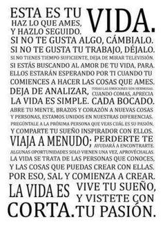 .#VIda #pasion #frase
