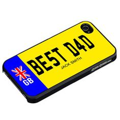 Personalised Best Dad Number Plate iPhone Cover  http://www.treathim.com/product/Personalised-Best-Dad-Number-Plate-iPhone-Cover