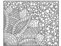 Coloring Page Zentangle Inspired Flower Printable 2