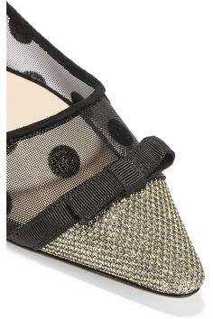 Heel measures approximately 10mm/ 0.5 inches Black mesh and suede Slip on Made in Italy