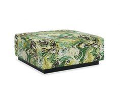 Gretchen Ottoman CR Laine Robert Allen Medici Marble Fabric