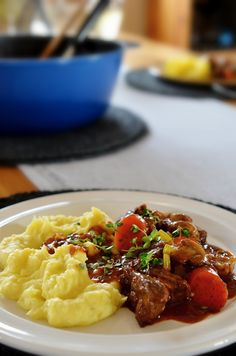 Hovězí po burgundsku   Lagom Risotto, Food And Drink, Ethnic Recipes