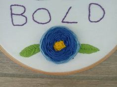 Here's a big woven wheel flower for you 💙 🌼🌺🌷 she has pride of place on my Be Bold hoop that's currently still looking for… Be Bold, Happy Saturday, Hoop, Pride, Embroidery, Big, Places, Flowers, How To Make
