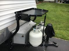 Sturdy, powder coated steel tray mounts to your trailer's A-frame with adjustable supports so you can carry extra gear while you tow. Specially designed to clear weight distribution brackets, propane tanks, and other frame-mounted obstacles. Lowest Prices for the best rv cargo from Stromberg Carlson. Stromberg Carlson Trailer Tray Cargo Carrier for A-Frame Trailers - 300 lbs part number CC-255 can be ordered online at etrailer.com or call 800-298-8924 for expert service.