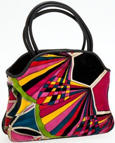 Heritage Vintage: Emilio Pucci 1960's Corduroy Graphic Print Bag