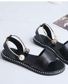 f425898fadc8 Rome Slip-On Pearl Flat Sandals
