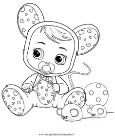 Baby Mouse, Minnie Mouse, Baby Coloring Pages, Shark Party, Color Activities, Baby Cartoon, Cry Baby, 4th Birthday, Baby Room
