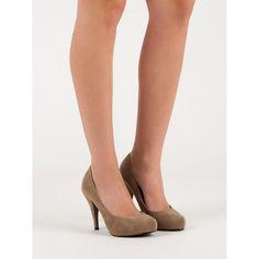 Semišové lodičky na podpätku Kitten Heels, Shoes, Fashion, Moda, Zapatos, Shoes Outlet, Fashion Styles, Fasion, Footwear