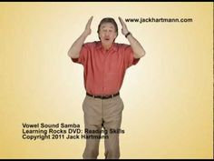 This is an updated version to a fan favorite. Vowel Sound Samba teaches children both the long and short vowel sounds for each vowel. An example image is given as well as the corresponding word to reinforce the vowel sound. The Vowel Sound Samba can be found on Jack Hartmann's new DVD, Learning Rocks Vol.2: Reading Skills.