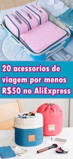 20 acessórios de viagem no AliExpress por menos de R$50 - Balança portátil de mala, faiza cadeado, garrafa dobrável, necessaires funcionais e muito mais.