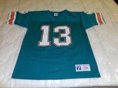 NFL Miami Dolphins Dan Marino #13 Vintage Jersey by Logo 7, Youth L #Logo7 #MiamiDolphins