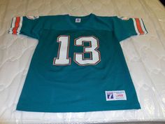 NFL Miami Dolphins Dan Marino #13 Vintage Jersey by Logo 7, Youth L #Logo7 #MiamiDolphins