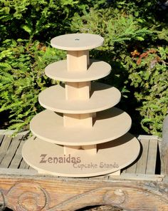 Cupcake Stand Round 5 Tier with Threaded Rod von ZenaidasDesigns