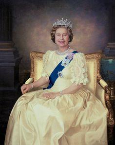 Mara McGregor —   Her Majesty Queen Elizabeth II,1991 :  The Royal Corps of Transport, Territorial Army, Liverpool.  UK (1000×1264)