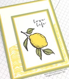 From the moment I first laid eyes on A Happy Thing, one of the amazing options during Stampin' Up!'s Sale-a-Bration, I knew I was in love.  Complementing a big, bold lemon and a chubby, little bird...