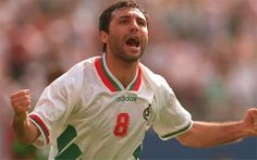 Bulgaria's Hristo Stoichkov was a revelation at USA '94. He top scored for the tournament with 6 goals (along with Oleg Salenko of Russia who scored 5 of his 6 goals in one game), getting the illustrious golden boot as Bulgaria finished fourth. He netted twice in the memorable Quarter Final match against Germany where Bulgaria came from behind to win 2-1.