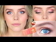Too Faced Sweet Peach Eyeshadow Palette Tutorial Hey Guys! You've been requesting to see more makeup video's so today I have tutorial using the Too Faced Swe. How To Do Eyeshadow, Eyeshadow For Blue Eyes, Peach Eyeshadow, Eyeshadow Tips, Eyeshadow Looks, Eyeshadows, Peach Pallette Too Faced, Peach Palette Looks, Peach Pallete