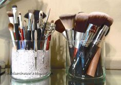 makeup brush holder from bath and body works candles