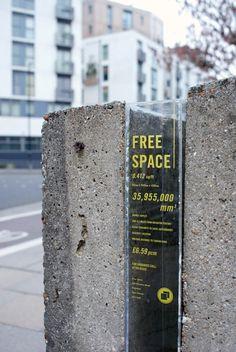Free Space Glass Sign