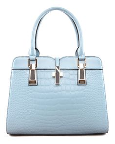 Pastel Embossed Satchel from The Shopping Bag