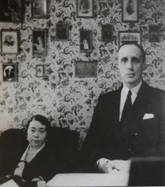 Prince Gabriel Constantinovich of Russia (1887 – 1955) and his first wife Antonina Nesterovskaya (1890 – 1950). Their marriage was long and happy, but childless. He remarried after her death.