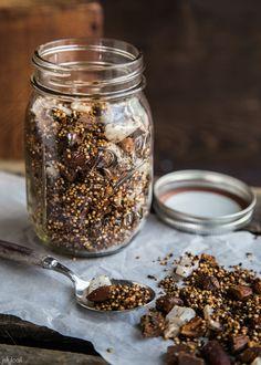 Chocolate coconut quinoa granola