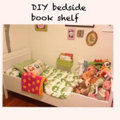DIY bedside book shelf