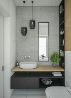 Gorgeous 60 Modern Farmhouse Small Bathroom Remodel Decor Ideas High-design fads not just look stunning however include worth to your bathroom remodel. Right here are our preferred bathroom renovation ideas to include currently. Bathroom Inspiration, Bathroom Ideas, Bathroom Grey, Bathroom Small, Bathroom Storage, Master Bathroom, Bathroom Basin, Bathroom Modern, Bathroom Mirrors
