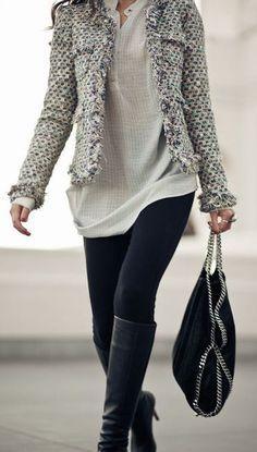 #fall #fashion / monocromo