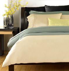Cool & Crisp Bed Linens {www.virginiagail.com}