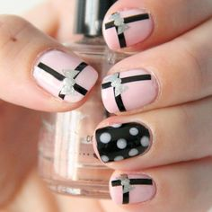 NAILED IT DECALS: 1 Sheet of 44 Stripe Nail Decals (You Pick the Color) on Etsy, $4.99