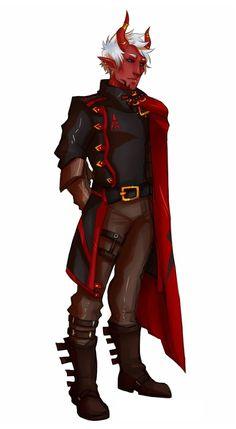 Male Devil General - Pathfinder PFRPG DND D&D 3.5 5th ed d20 fantasy