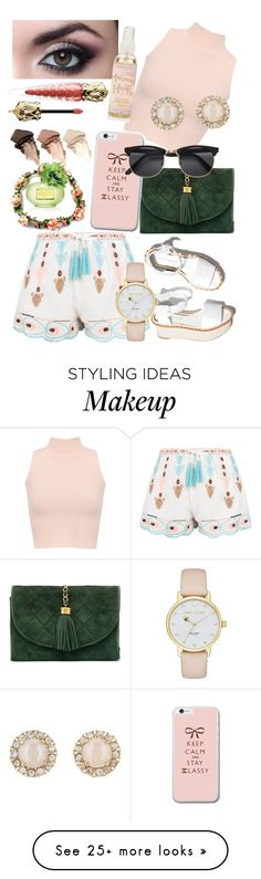 """""""Pink Happiness"""" by piscesgal0xy004 on Polyvore featuring New Look, WearAll, Paloma Barceló, Chanel, Kate Spade, Christian Louboutin, Coach and Urban Decay"""