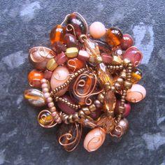 Handmade+beaded+brooch £10.00