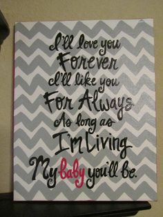 Modern Chevron Print Hand Painted Canvas, with Quote from jlucille on Etsy. Saved to Quotes to Live By.