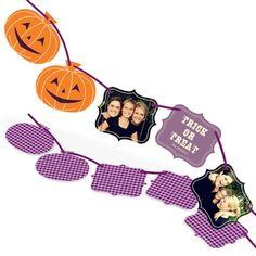 Pumpkin Ribbon Strand -- Halloween Photo Cards