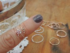 7 tie the Knot Rings - Seven Bridesmaids Gifts - Delicate Jewelry - Tie the Knot Gift - Memory Ring on Etsy, $109.09 CAD