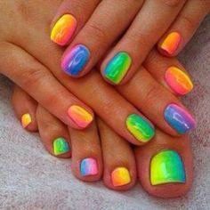 Rainbow Bright Nail Art