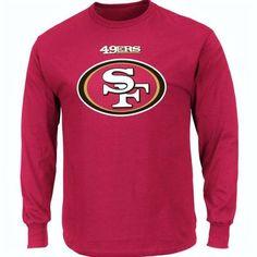 FREE U.S. Shipping! NWT! NFL San Fransisco 49ers Long Sleeve Shirt! Adult Large. #Majestic #SanFrancisco49ers