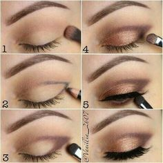 How to achieve and easy neutral bronze smokey eye for that perfect makeup look c. - How to achieve and easy neutral bronze smokey eye for that perfect makeup look click the link for m - Contour Makeup, Eyebrow Makeup, Skin Makeup, Eyeshadow Makeup, Makeup Brushes, How To Do Eyeshadow, Applying Eye Makeup, Matte Makeup, Matte Eyeshadow